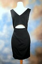 NEW FRENCH CONNECTION black sexy cutout exposed zipper cocktail party dress 4