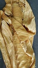 "1 roll 80 yards Crease taffeta crushed  gold tablecloth dresses 54""width"