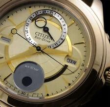Nuovo Orologio Citizen Eco Drive Fasi Lunari Watch BU0003-02P con Box e Garanzia