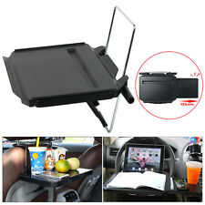 Universal Foldable Auto Car Tray Tables Laptop Work Desk Steering Wheel Portable