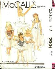 McCall's American Ballet Theatre Sewing Pattern McCalls Costume 7991 Girls Sz 10