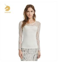 Women Girls Cotton T-shirt Lace Casual Tee atacado roupas femininas New Korean #