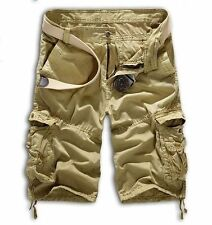 Mens Casual Work Combat Cargo Chino Shorts Pocket Pant Military Army Trousers