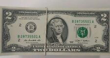 LOT OF 10 $2 TWO DOLLAR BILLS 2009 SERIES NEW YORK B NOTES CONSECUTIVE # w07