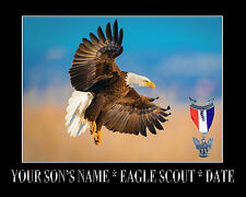 """CUSTOMIZED EAGLE SCOUT GIFT - 11""""x14"""" Printed with your inscription"""