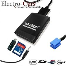 INTERFACE USB AUDIO MP3 SD ADAPTATEUR AUTORADIO COMPATIBLE PEUGEOT 406