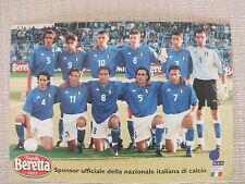 CARTOLINA CALCIO SQUADRA SCHIERATA NAZIONALE ITALIANA SPONSOR BERETTA - NUMERATA