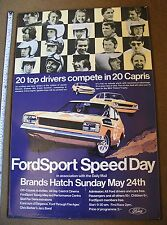 FORD CAPRI  3 LTR  MEXICO RS 2000  BROCHURE 1800  drivers poster original
