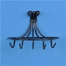 Dollhouse Miniature 1:12 Scale Hanging Pot Rack, Black #S8364