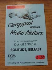 24/09/1999 At Cliftonville: Clergypool v Media Allstars [Pioneer Association Cen