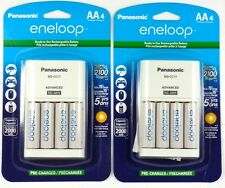 PANASONIC K-KJ17MCA4BA 4-Position Charger+ 4 eneloop AA rechargeable Batteries.