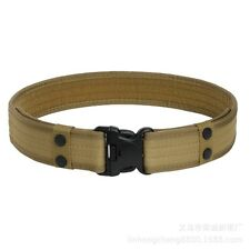 U.S. Army Style Combat Belt Quick Release Men Canvas Waistband Outdoor Hunting
