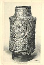 VASE ALBARELLO SYRIE EAU-FORTE DE MB KRIEGER GRAVURE ENGRAVING 1903