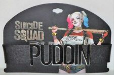 "BLACK HARLEY QUINN SUICIDE SQUAD COSTUME COSPLAY ""PUDDIN"" CHOKER NECK COLLAR"