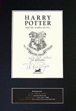 JK ROWLING Harry Potter Intro Page Autograph book Signed Photo Print (A4) No412
