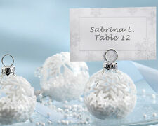 6 Snowflake Ornament Place Card Photo Holder Christmas Wedding Favor Party Gift