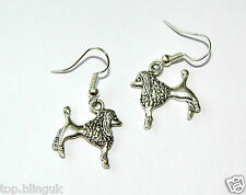 Poodle Earrings; Brand New Silver Fashion Jewelry
