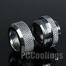 Water Cooling Compression Fitting For Rigid Acrylic Tubing 14mm OD Chromed
