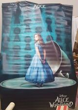 "RARE Large 94.5""X59"" Vinyl Alice in Wonderland Double Sided Movie Poster"
