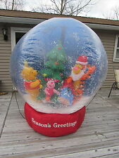RARE Gemmy Disney Winnie Pooh Tigger 7' Inflatable Snowing Christmas SnowGlobe