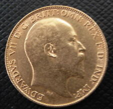 Great Britain 1903 Gold 1/2 Sovereign AU