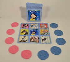 "RARE 2008 Coraline Movie 5.5"" Button Tic Tac Toe Board Game Hardee's Carl's Jr"
