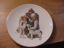 """Vintage 1981 Norman Rockwell Collector Plate """"Making Friends"""" The Danbury Mint"""