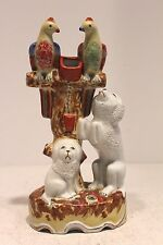 """Vintage Cute Chinese Porcelain a Pair Dog & a Pair of Parrot 10"""""""
