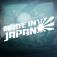 MADE IN JAPAN Sun Car,Bike,Window,Bumper JDM JAP VAG DRIFT Vinyl Decal Sticker