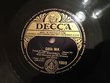 "DAVID WHITFIELD, MANTOVANI ""Cara Mia""/ ""Love Tears And Kisses"" 78rpm 10"" EXC"