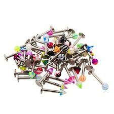 Labret tragus stud Ring Wholesale LOT 50pc 14g Ball & Spike  Mix Colors MONROE
