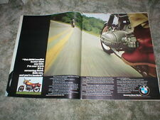 1975  BMW Motorcycle  Picture Ad  2 page Original R60/6  R75/6  R90/6  R90S