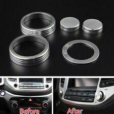 5pcs Car Interior Air Condition Button Ignition Ring Cover Trim For Tucson 2016