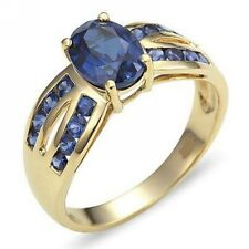 Size 7 Blue Topaz 18K Gold Filled Jewelry Women's Hot Fashion Anniversary Ring