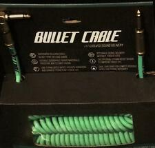 Bullet Cable 30' Coil Sea Foam with Angle & Straight Guitar & Bass BC-30CCSEA