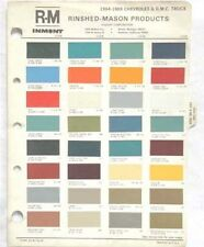 1964 - 1969 CHEVROLET GMC TRUCK R-M  COLOR PAINT CHIP CHART ALL MODELS ORIGINAL