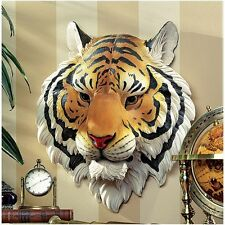 """Design Tuscano Exclusive 14½"""" Indochinese Tiger Hand Painted Wall Sculpture"""