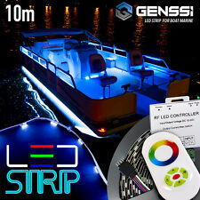 Boat Marine Interior LED Strip Rope Light Kit - RGB Color Change + Controller