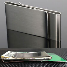 Mens Portable Money Clip Wallet Credit ID Card Holder Stainless Steel Money Clip
