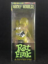 FUNKO ED ROTH RAT FINK YELLOW POLYSTONE RESIN WACKY WOBBLER BOBBLE HEAD RARE NEW