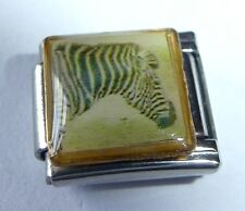 ZEBRA Italian Charm - fits 9mm Classic Starter Bracelets  Stripes Zoo Animal W56
