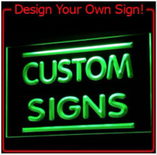 New Custom You Design LED Neon Light Signs For Bar Man Cave Sport Game 7 colors