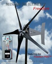Wind turbine PACKAGE Freedom 12 V 1700 watt 5 blade wind turbine BLK Bare steel