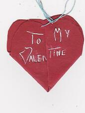 RARE EARLY 1900s FOLK ART HOME MADE VALENTINE'S DAY CARD - TO MY VALENTINE HEART