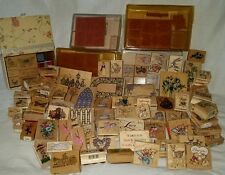 125 pc Lot Wood Rubber Ink Stamps PSX Rubber Stampede Inkadinkado STAMPIN' UP ++