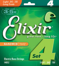 Elixir 14052 Light Nanoweb Electric Bass Strings