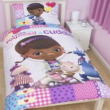 Official Disney Doc McStuffin Patch Single Duvet Cover Bed Set Dottie Stuffy