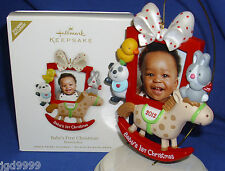Hallmark Photo Picture Holder Ornament Baby's First Christmas 2012 Personalize