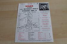 139289) Solex Type 40 PICS - Citroen AMI 6 Prospekt 05/1964