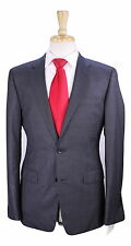 * THEORY* Very Recent Solid Gray Wool-Cashmere 2-Btn Slim Fit Suit 38R